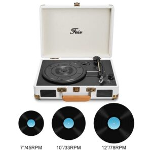 Vinyl Stereo White Record Player