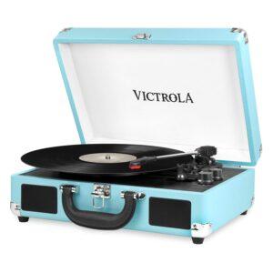 it.innovative technology Victrola Vintage 3-Speed Bluetooth Suitcase Turntable