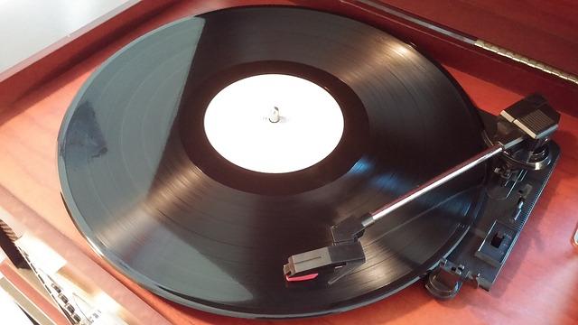 vinyl played on turntable